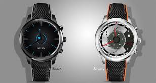 Lemfo Lem5 Android Smart Watch in Black and Silvery color