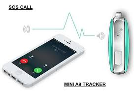Mini realtime A9 GPS Tracker for Emergency SOS Alarm, voice monitoring and two-way audio communication
