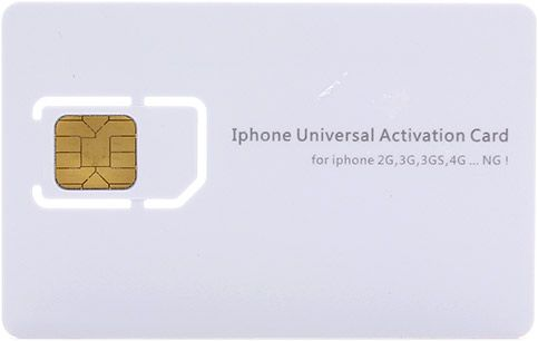Activator SIM Card for Apple iPhone 2G / 3G / 3GS / 4 / 4S