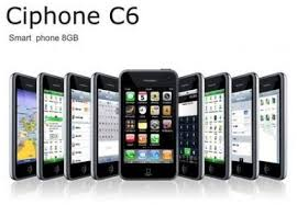 CiPhone - C6 iPhone clone (Quadband, 3.5'' Touchscreen, 8 GB, Bluetooth, MP3 / MP4 player, WIFI, GPS, WM 6.1, Java)