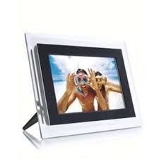 Philips 7FF2FPAS 7'' Digital Photo Frame (Clear & Black)