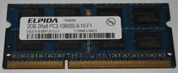 Elpida 2 GB 2Rx8 PC3-10600S-9-10-F1 1333 MHz DDR3 SO-DIMM laptop memory