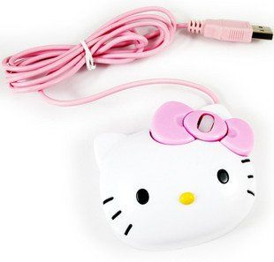 Hello Kitty Mouse (USB, optical, 3D, 1200 dpi, for Laptop and PC)