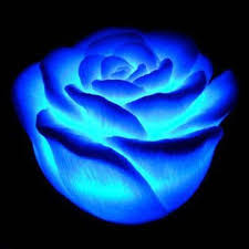 LED color change realistic rose decoration