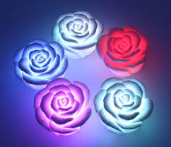 Led color change realistic rose