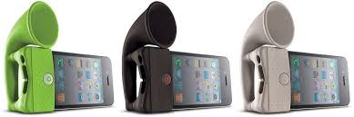 Portable Silicone Horn Stand Amplifier Speaker for iPhone 3 / 3G / 4 / 4S