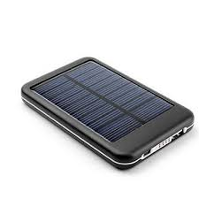 Portable Solar Charger / External Battery & Power Bank built-in high-capacity (5000 mAh) Li-Polymer Battery for Phone / Tablet / iPhone / iPad