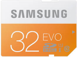 Samsung EVO SDHC 32 GB (Class 10, UHS-I Grade U1, up to 48 MB/s) memory card