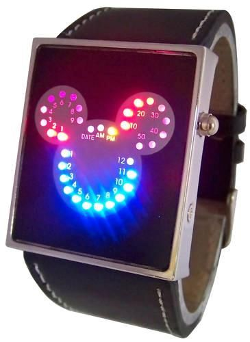 Mickey Mouse Led Unisex Watch