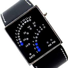 1970\'s 29 Blue LED Unisex Watch